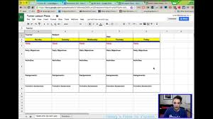 Lesson Plan Sheets Creating Lesson Plans From A Template In Google Sheets