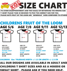 Child T Shirt Size Chart By Age Child T Shirt Size Chart Uk Arts Arts