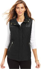 Style&co. Sport Faux Leather Quilted Puffer Vest | Where to buy ... & Sport Faux Leather Quilted Puffer Vest Adamdwight.com