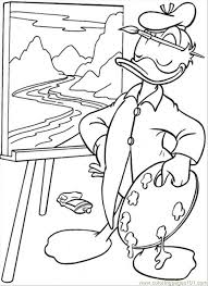 Small Picture Painting Coloring Page Free Donald Duck Coloring Pages