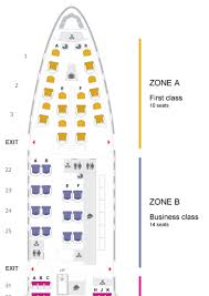 B744 Seating Chart Review Thai Airways 747 400 Business Class Tokyo To Bangkok