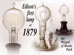 1879 Electric Light Bulb Lantern Of The Hermit Thomas Edison Or Nikola Tesla