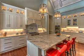 Atlanta Fieldstone Cabinet Kitchen Transitional With Double Ovens