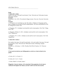 Apa Citation Exercise Docsharetips