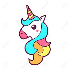 Unicorn Icon Design Vector Illustration Royalty Free Cliparts
