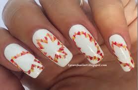 fall leaves nail art – 365daysofnailart