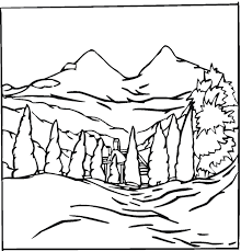 Small Picture Lovely Landscape Coloring Pages 33 With Additional Seasonal
