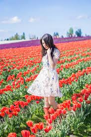 skagit tulip fields washington fl dress chicwish garden embroidered beige organza dress red rain