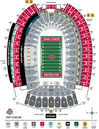 Horseshoe Osu Seating Chart Ohio Stadium Seating Chart Ohio State Buckeyes