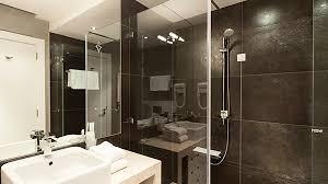 black tiled shower option