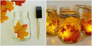 candle leaf mason jar fall diy decor