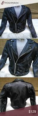 men s vintage wilson leather motorcycle jacket l