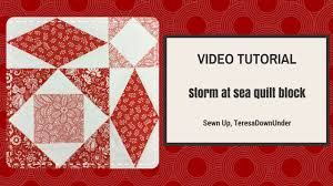 Video tutorial: Quick and easy Storm at sea quilt block - YouTube & Video tutorial: Quick and easy Storm at sea quilt block Adamdwight.com
