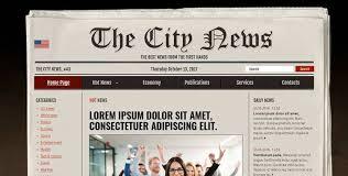 Website Template Newspaper Newspaper Free Psd Photoshop Template Gridgum