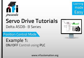 servo video tutorials position mode on off of servo motor by plc you