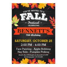 Fall Festival Invitations Zazzle