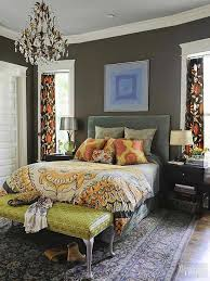 use color to create big personality in your small master bedroom deep wall color in this grown up getaway establishes an atmosphere of comfort warmth bhg bedroom ideas master