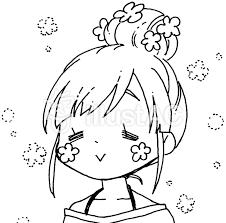 お団子女子漫画風11イラスト No 1075972無料イラストなら