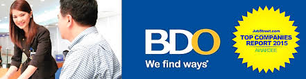 Bdo Unibank, Inc From National Capital Reg Is Looking For A ...
