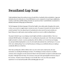 my swaziland gap year informative writing a level english  document image preview