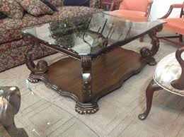 wood and glass coffee table sets classic