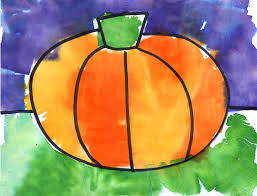 pumpkin tissue paper painting art projects for kids