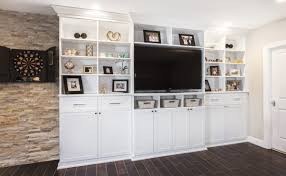 SUSPENDED MEDIA CENTER WITH STORAGE CABINETS Custom Entertainment Centers Arizona   Floating