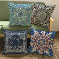 Image Ottoman Thailand Decorative Cushion Cover Meditation Pillow Ethnic Buddism Floor Cushion Boho Mandala Pillow Cases 45x45cm Aliexpress Thailand Decorative Cushion Cover Meditation Pillow Ethnic Buddism
