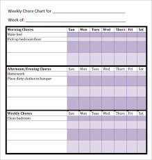 Chore Chart Template For Teens 40 Timeless Printable Roommate Chore Chart