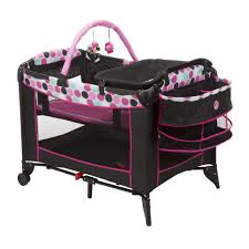graco bedroom bassinet portable crib. minnie mouse dotty sweet wonder play yard from safety 1st | disney baby graco bedroom bassinet portable crib