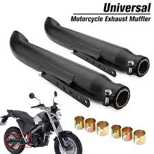 2x motorcycle exhaust ler pipe tip