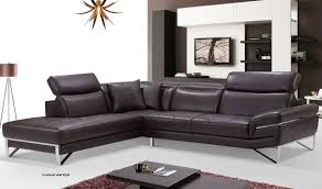 leather sectional sofa in chocolate  free shipping  get