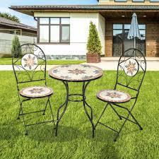 mosaic patio table folding chair