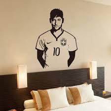 Soccer Bedroom Decor Aliexpresscom Buy Neymar Junior Soccer Wall Sticker Sports