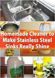 homemade cleaner to make stainless steel sinks really shine