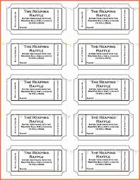 Free Printable Raffle Ticket Template Download Word Design Templates