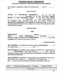 Training Agreement Contract Service Level Agreement Template ...