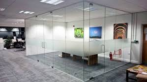 office dividers glass. Attractive Frameless Glass Corner Office Dividers F