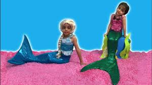 Small Picture Elsa And Anna Videos Real Life Movie For Kids Mermaids Tails