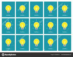 Light Bulb Shining Animation Sprite Sheet Flat Stock