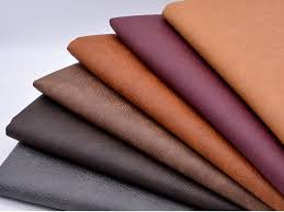 crazy horse leather faux leather fabric fake leather fabric image 0