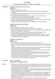 Emergency Room Tech Resume Samples Velvet Jobs