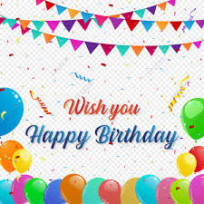 Happy Birthday Background Design Png Happy Birthday Background With And Colorful Balloons
