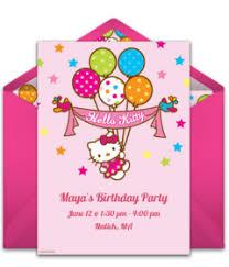 Hello Kitty Party Invitation Free Hello Kitty Online Invitations Punchbowl