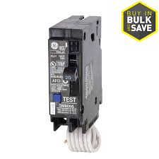 circuit breakers at lowes com ge q line thql 20 amp 1 pole combination arc fault circuit breaker