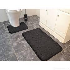 black memory foam bath mats large washable 2 piece set toilet rugs b01mz8qhez