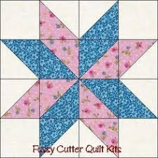Scrappy Fabric Calico Flowers Easy Pre-Cut Quilt Blocks Kit ... & Free Easy Quilt Block Patterns | ... Points Star Pre-Cut Easy Quilt Adamdwight.com