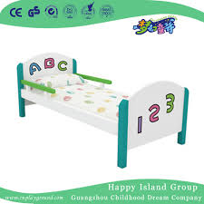 china lovely wooden single school baby bed with letters and numbers hg 6308 china kindergarten furniture plastic bed