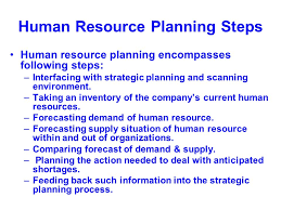 human resource planning after formulation of hr strategy the 5 human resource planning steps