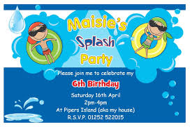 Invitation Templates Pool Party Elegant Pool Birthday Party ...